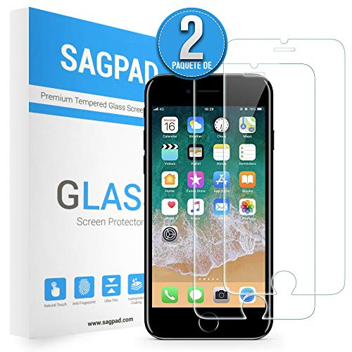 Anti-burbujas NBKASE Protector Pantalla para iPhone 7 Plus//iPhone 8 Plus 2 Piezas Anti-ara/ñazos Alta Definicion Protector Cristal Templado Apple iPhone 7 Plus//iPhone 8 Plus