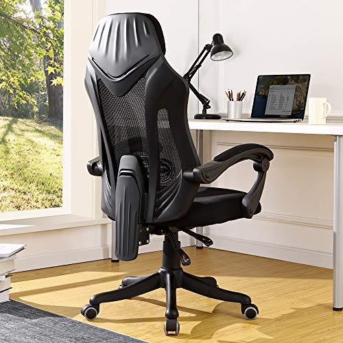 BERLMAN Ergonomic High Back mesh Office Chair Recliner Desk Chair Computer Chair (Black)