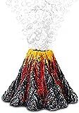 Tanque de Peces Adorno de volcán Decoraciones de burbujeador de Aire Resina Lava Colorido Tanque de Peces Montaña Decoración subacuática Accesorios de Bomba de Aire de Acuario