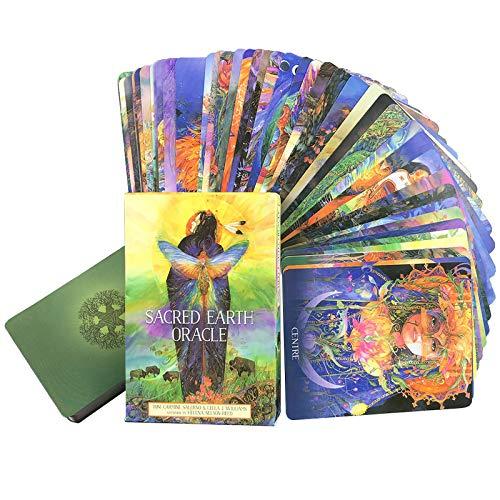 Tarot Deck, Sacred Earth Oracle Cards, 45 PCS Carte Tarot Lavori La Tua Luce Oracle Card Deck Playing Cards Game Oracle Cards per Principianti, Scheda di divinazione (Edizione Inglese)
