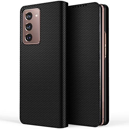 Miimall Samsung Galaxy Z Fold 2 5G Hülle, [Abnehmbare Hintere Abdeckung] Premium Leder Klapphülle mit Kartensteckplätze Magnetschnalle Schutzhülle für Samsung Galaxy Z Fold 2 5G 2020 - Muster