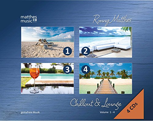 Chillout & Lounge (Vol. 1-4) - Gemafreie Hintergrundmusik (Jazz, Chillout, Ambient & Piano Lounge) 4 CD - Edition