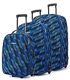 Greenwich - Juego Maletas Napoles Trolley 2 Ruedas - Azul