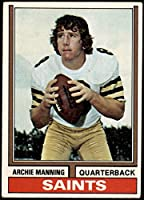 1974 Topps # 70 Archie Manning New Orleans Saints (Football Card) VG/EX Saints Ole Miss