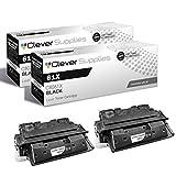 CS Compatible Toner Cartridge Replacement for HP 61X C8061X Black Laserjet 4100 4100N 4100TN 4100MFP 4100DTN 4101 4101MFP 4100T Toner Cartridge 2 Black Set