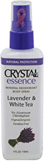Crystal Essence Mineral Deodorant Body Spray Lavendar & White Tea 4 oz