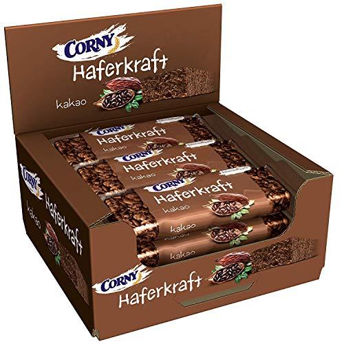 CORNY Haferkraft Kakao, weicher Schoko-Haferriegel im 12er Pack (12 x 65 g Riegel)