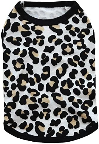 BBEART Pet Clothes Leopard Print T Shirt Puppy Cat Cotton Vest Clothing Apparel Spring Summer product image