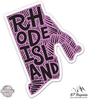 GT Graphics Rhode Island Shape Cute Letters Native Local - Vinyl Sticker Waterproof Decal