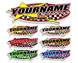 Custom Your Team Name Racing Trailer Decals | Your Name Trailer Stickers | Multiple Color & Size Options