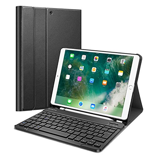 "Preisvergleich Produktbild Fintie Keyboard Case for iPad Air 10.5"" (3rd Gen) 2019 / iPad Pro 10.5"" 2017 (Spanish Layout),  Black"