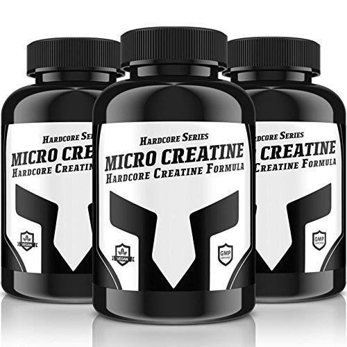 MICRO-CREATINE Hardcore Serie | 240 Tabletten für 40 Tage Kur | Kreatin + Vitamin B6 | Bufferd Creatine Formula | Hochdosiert | (Creatine Alkalyn) | solider & trockener Muskelaufbau + Ersatz für Steroide