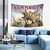 BEEPBOOP Ir-on M-ai-de-n Skeleton Tapestry Skulls Tapestries Wall Hanging Heavy Metal Bands Poster Polyester Frabic Home Artwork Decor for Living Room Dorm Bedroom 60''x40''