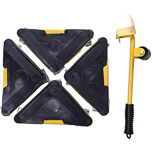 GYZ mover Universalrad Werkzeug geeignet for Möbel Kühlschrank Waschmaschine Klavier schwerere Gegenstände Bewegen schwerer Gegenstand der Handhabung, 9x36cm Möbel Mover (Color : Yellow)