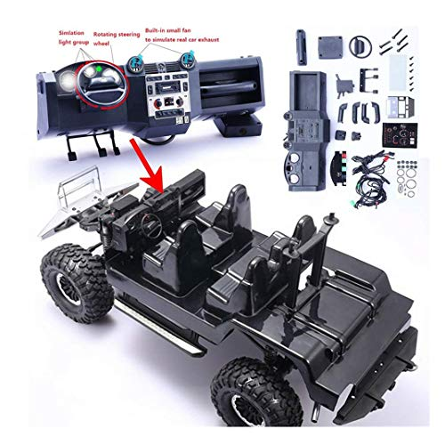 HHoo88 Simulation Car Center Console Organizer KIT for Traxxas TRX4 RC Car Part Accessories - RC Vehicle Truck Upgrade Spare Parts