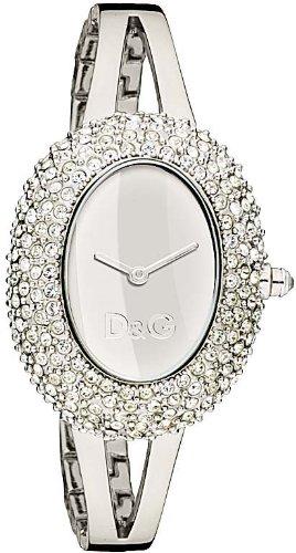 D&G Dolce & Gabbana DW0279 - Orologio da polso da donna, cinturino in acciaio inox colore argento