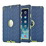 iPad Air Case, iPad 5 Case, Fisel Tire Design Three Layer Rugged Armor