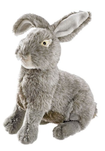 Hondenspeelgoed, natuurgetrouwe wilddier-look, om te knuffelen en te spelen, konijntje, Medium, Haas