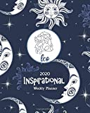 2020 Inspirational Weekly Planner: Leo Horoscope Sign - Blue Celestial -Dated Yearly Planning Calendar with Motivational Quotes from Women- 2 Pages per Week