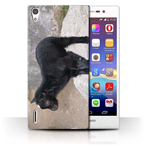 eSwish Carcasa/Funda Dura para el Huawei Ascend P7 LTE/Serie: Lindos Animales de Compañía - Cabrito/Cabra