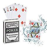 Relaxdays Carte da Poker Plastificate, Impermeabili, Carte da Gioco Resistenti, 54 Carte, Set da Poker,...