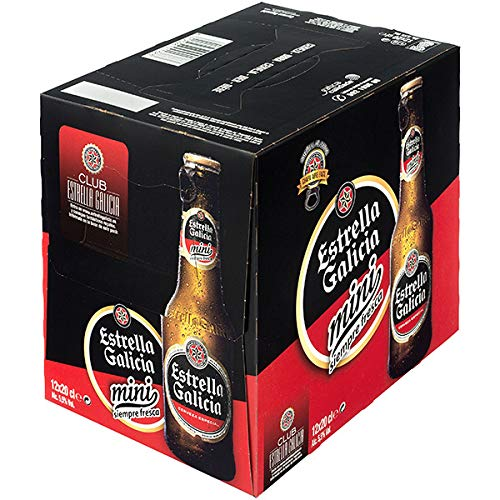 Estrella Galicia Mini Cerveza Rubia Especial, 12 x 20cl