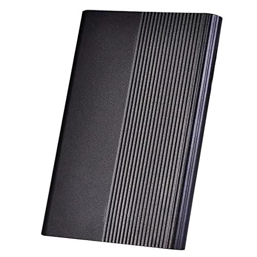 Disco duro externo portátil, ultradelgado, 1 TB, 2 TB, disco duro portátil tipo C, disco duro para Mac, PC (1 TB, color negro)