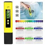 PH Messgerät, Mture Digital PH Wert Messgerät mit LCD Anzeige ATC Wasserqualität Tester für Trinkwasser, Hydroponic, Aquarium und Labor