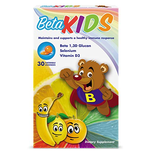 Beta Kids Immune Support Gummies for Kids – with Beta Glucan, Selenium, and Vitamin D3 – All Natural, Non-GMO – Kids Chewable Vitamin (30 ct)