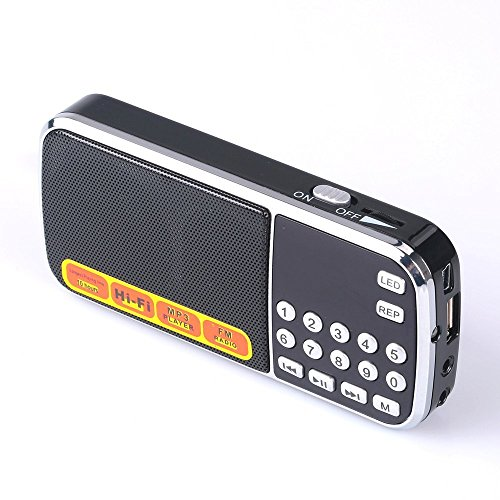 Mfine 088 Mini Speakers Portable Music Player Micro SD/TF USB Disk Speaker FM Radio - Black