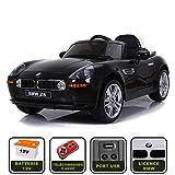 cristom Voiture de Sport électrique 12V pour Enfant BMW Z8 (Noir)