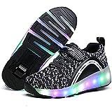 FR&RF Rodillos Zapatos del patín para Adultos de los niños Encendido LED Ruedas Zapatillas de Deporte con Las Zapatillas de Deporte de Rodillos Doble Ruedas niños Que Brillan,30