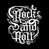 ステッカー剥がし 12.4CM * 14.2CM楽しいロックンロールナイトクラブミュージックデカールビニールブラック/シルバーカーステッカー ステッカー剥がし (Color Name : Silver)