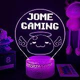 Luz de noche 3D para niños, Game Ragn&arok Online 3D LED Nightlight Poring Ange&ling Figura para decoración de dormitorio lámpara de noche niños regalos de cumpleaños/Navidad