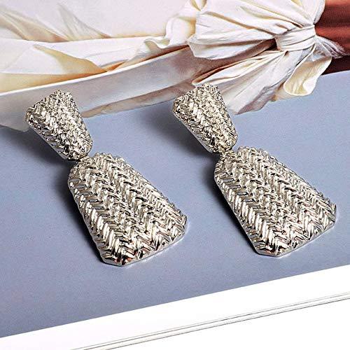 DJMJHG Pendientes de Gota geométricos de Metal Dorado, joyería Fina para Mujer, Accesorios de Moda, Pendientes, Mejor Regalo de cumpleaños1