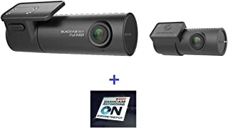 HDVD BlackVue DR590W-2CH 32GB, Car Black Box/Car DVR Recorder, Full HD 1080p Front and Rear, 30FPS, Built-in Wi-Fi, G Sensor, 32GB SD Card Warning Sign Included