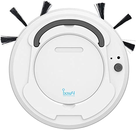 USB Charging White Robot Vacuum Cleaner Floor Sweeper Clean Home Vacuum Cleaner Automatic Steering,Robotic Cleaner for Home and Apartment Hard Floors and Pile Carpets