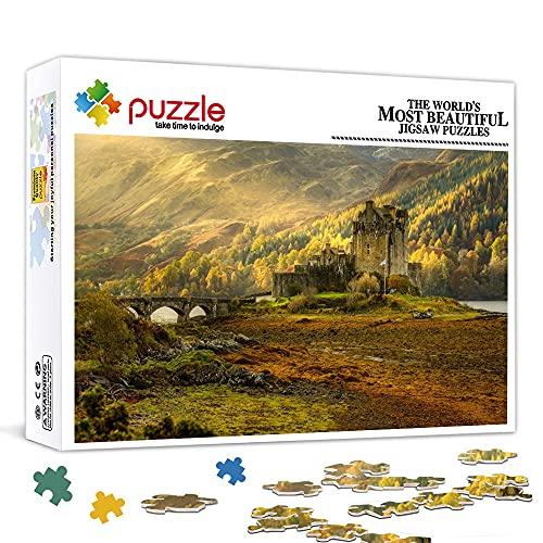Puzzle de 300 piezas para adultos |Castillo de Eilean Donan | (15x10 pulgadas) |Rompecabezas de bricolaje de 300 piezas, rompecabezas para decoración del hogar, alivio del estrés para niños adultos