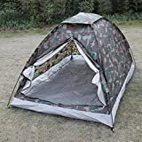 Generic Brands 2020 New Camping Tent for 2 Person Single Layer Outdoor Portable Beach Tent Camouflage Ultralight Camping Tent Ice Fishing Tent