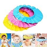 SUNTRADE Shampoo Shower Bathing Protection Bath Cap Adjustable Visor Hat for Toddler, Baby, Kids, Children,Set of 3