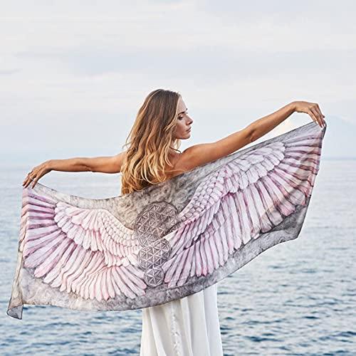 Tqbluq European and American Printed Beach Towel Beach Shawl Women 130 * 75CM-A1