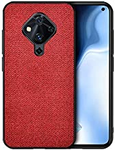 GFMING Mobile Phone case for Vivo S1 Pro (Indian Version) Shockproof Cloth Texture PC + TPU Protective Case (Color : Red)