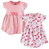 Touched by Nature Girls, Toddler, Baby and Womens Organic Cotton Short-Sleeve and Long-Sleeve Dresses, Rosebud Short Sleeve, 5 Toddler