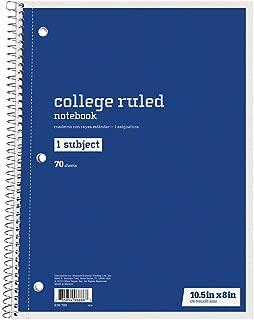 Just Basics Spiral Notebook, 7 1/2