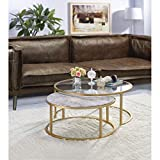 Knocbel Modern Nesting Coffee Table Set of 2 for Living...