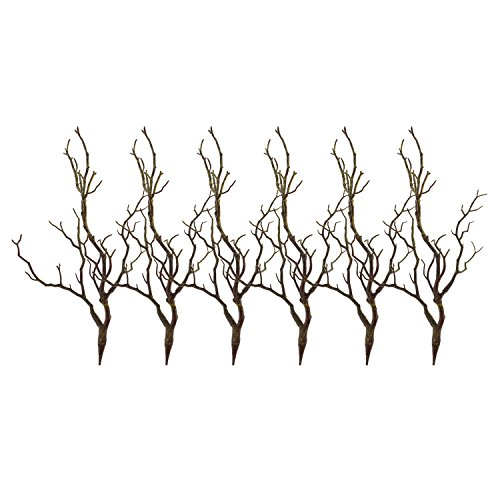 Sigdio Artificial Plastic Stems Bohemian Twigs Dried Tree Branches for Wedding Party Home Hotel Decoration (Green, 6)