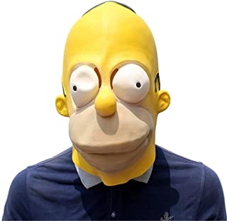 Simpson Mask Halloween Latex Mask Movie Props Mask Cosplay Costume Carnival Halloween Decorations Props Masquerade Props (...