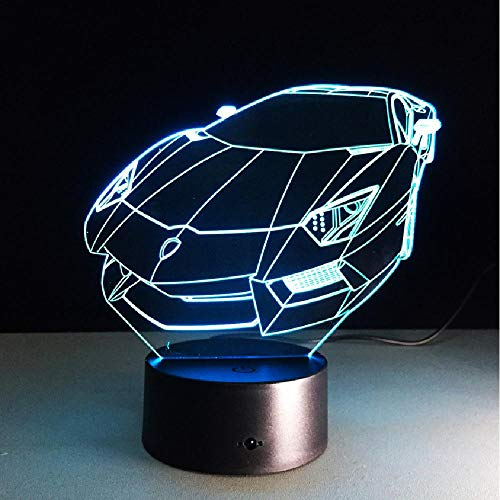3d farbwechsel acryl nachtlicht sport auto auto 3d hologramm hause beleuchtung schlafzimmer dekor schreibtisch tisch handy bluetooth app steuerschalter