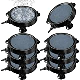 8 Pieces 4 Inch Disc Air Stone Bubble Diffuser Fish Tank Bubbler with 24 Pieces Suction Cups Aerator Diffuser Round Air Stone Kit for Hydroponics Aquarium Fish Tank Air Pump