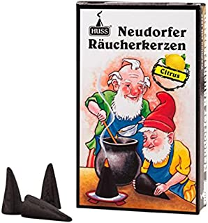 HUSS Incense Cones for German Incense Smoker - Citrus - Eco-Friendly Handmade in Germany